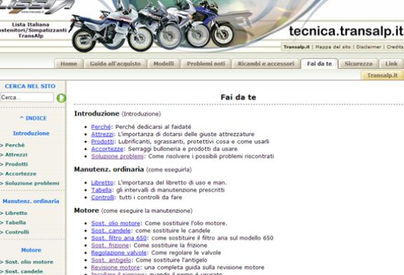 Riparazione + Fai da Te = Guide Transalp.it