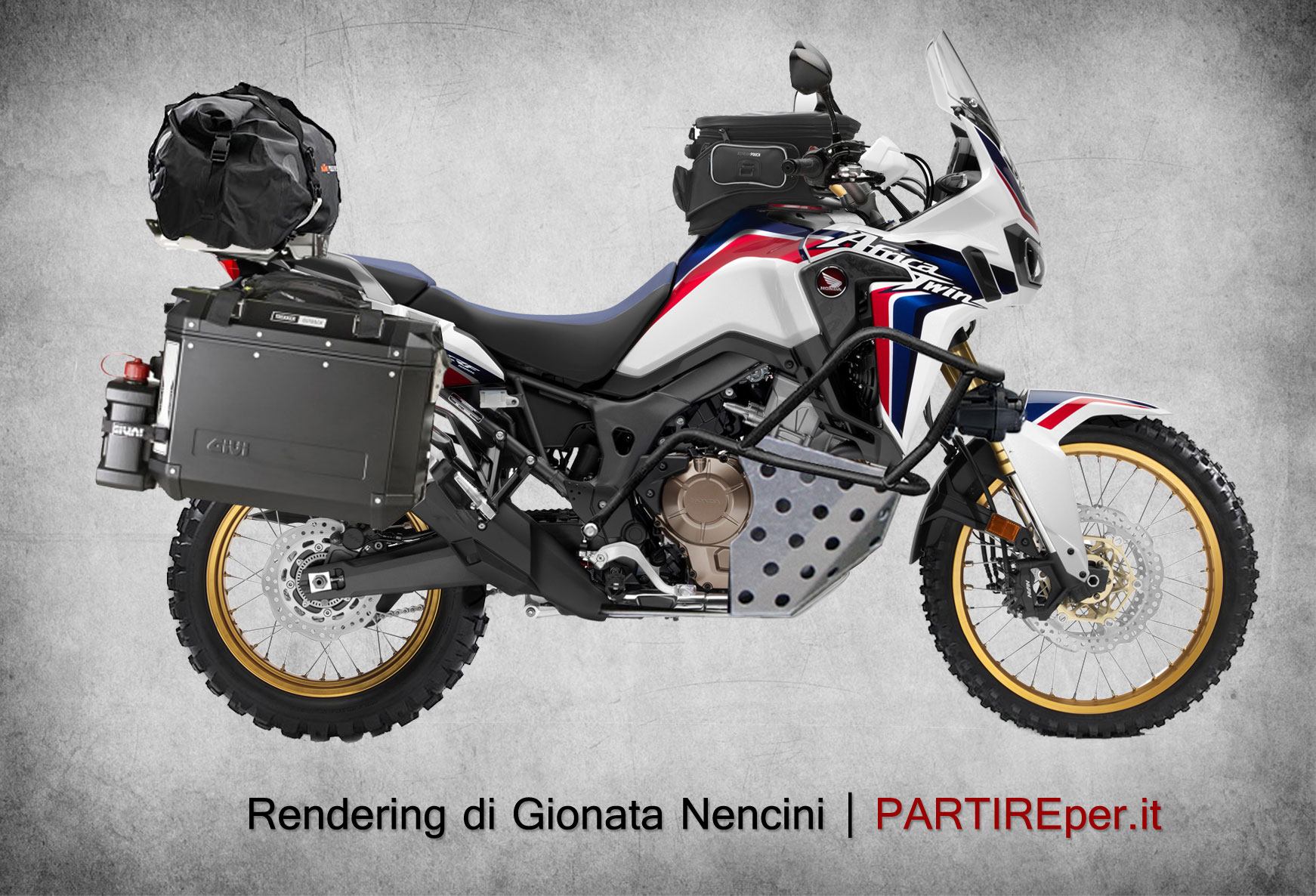 africa twin with panniers and crash bars honda crf1000l africa twin forum. Black Bedroom Furniture Sets. Home Design Ideas