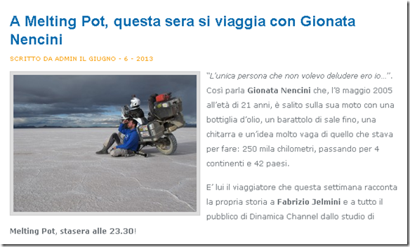 Media: Melting Pot, Dinamica Channel